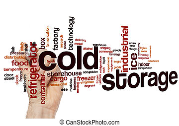Cold storage word cloud