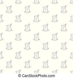 Cold tea pattern vector seamless