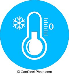 Cold vector icon isolated on white background