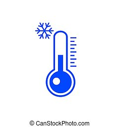 Cold weather thermometer icon isolated on white background. Vector illustration