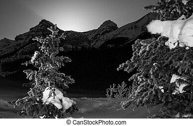 Cold Winter Night in the Mountains