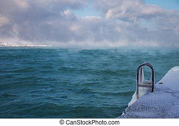 Cold winter sea.