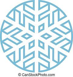 Cold Winter Snowflake vector icon