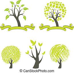 colección, de, árboles