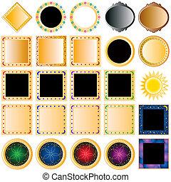 colección, de, botones
