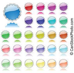 colección, de, coloreado, elementos