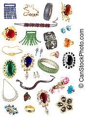 colección, de, femenino, accesorios