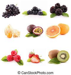 colección, de, fruta