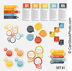 colección, de, infographic, plantillas, para, empresa / negocio, vector, illustra