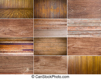 colección, de, madera, plano de fondo