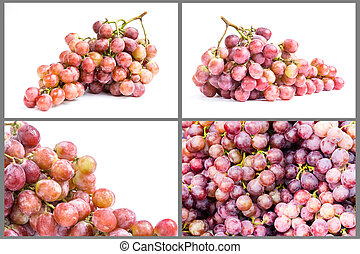 colección, de, maduro, uva, fruta