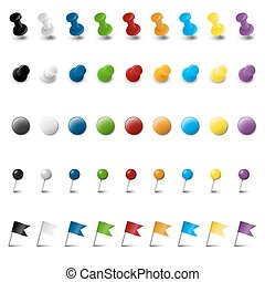 colección, de, nueve, coloreado, mancha, accesorios
