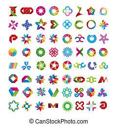 colección, de, resumen, símbolos