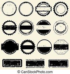 colección, de, sellos, marcos