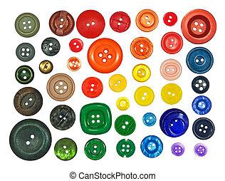 colección, de, vario, botones