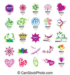 colección, de, vector, logotipos, para, belleza, salones