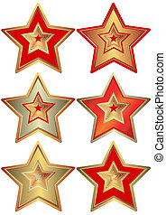 colección, estrellas, (vector)
