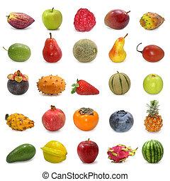 colección, fruits