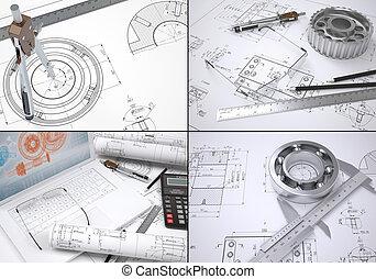 colección, ingeniería, imágenes