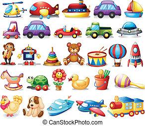 colección, juguetes