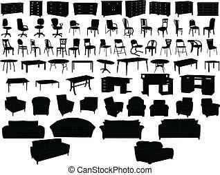 colección, muebles