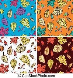 colección, otoño, patrones