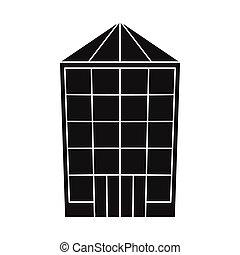 colección, símbolo., diseño, venta al por menor, stock., tienda, pueblo, vector, icono