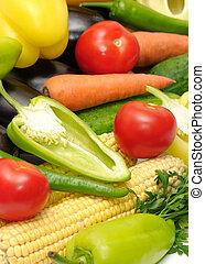 colección, vegetales
