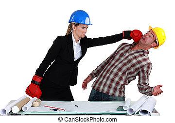 colegas trabalho, luta