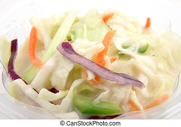 Coleslaw - Close up of coleslaw