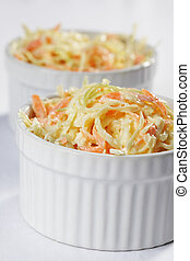 Coleslaw - Cole slaw salad in a bowl