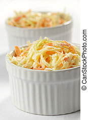 Coleslaw - Cole slaw salad in the bowl