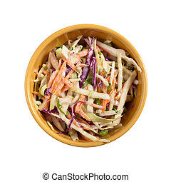 Coleslaw salad - Healthy coleslaw, made with green and red ...