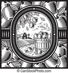 colheita, branca, pretas, maçã