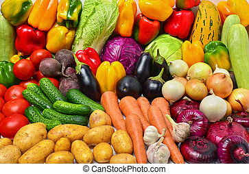colheita, de, legumes