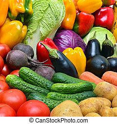 colheita, de, vegetables.