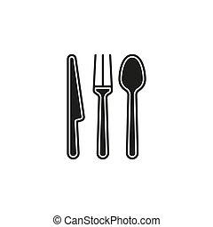 colher, cutelaria, faca, garfo