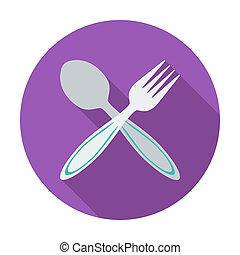 colher, fork.