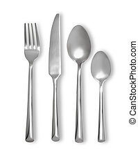 colher, jogo, garfo, faca, cutelaria