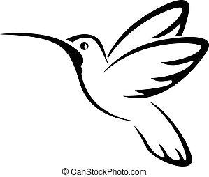 colibrí, tatuaje