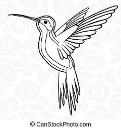 colibri, of, kolibrie, voor, logo, pictogram, t-shirt,...