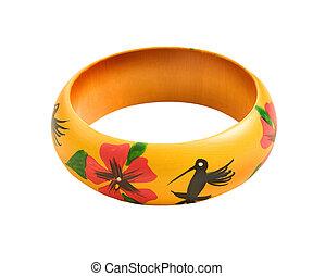 colibris, bracelet, fleurs, fait, main