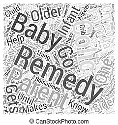 Colic Remedy Word Cloud Concept