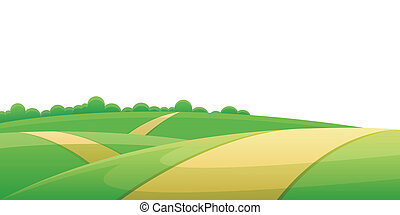 colina, camino