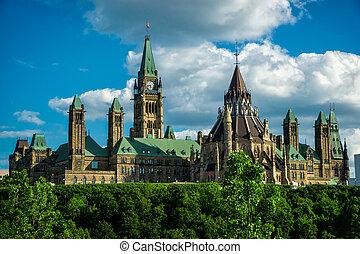 colina del parlamento, de la parte posterior