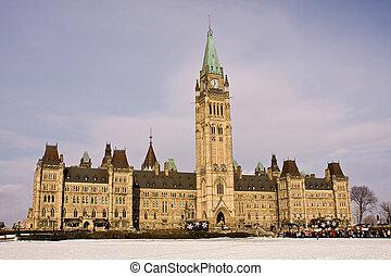 colina del parlamento, reunión, ottawa