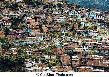 colinas, 13, medellin, colombia, casas, comuna
