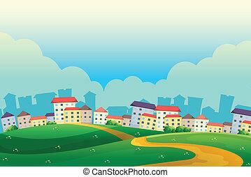 colinas, aldea