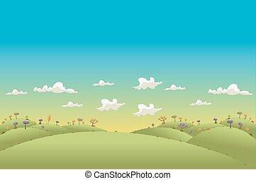 colinas verdes, paisaje