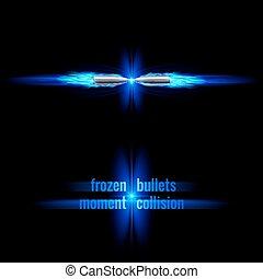 colisão, balas